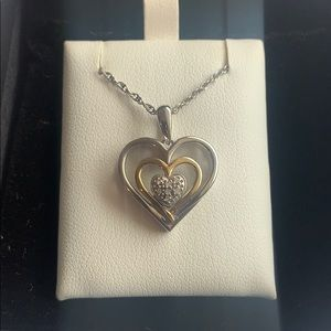 Macy's double heart necklace